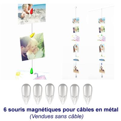 Pack de 6 aimants blancs pour Picture Mouse