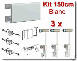 Kit  Nielsen 150cm blanc / 3 fils-3 crochets 4 kg-embouts-raccord-fixations