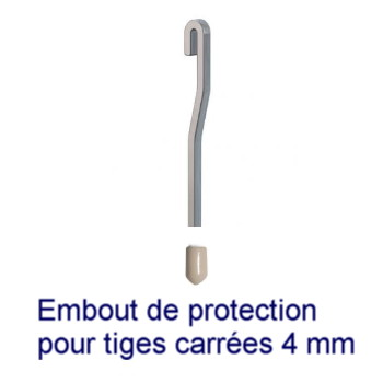 Manchon de protection pour tiges 4x4 mm