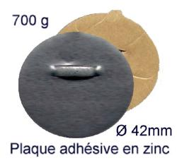 Attache adhésive en zinc Ø 42 mm charge 700 gr