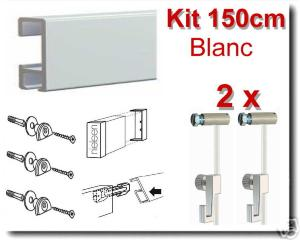 Kit  Nielsen 150cm blanc / 2 fils-2 crochets 4 kg-embouts-raccord-fixations