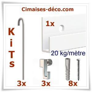 Kit Classic-rail J-3 tiges Ø 2mm 200cm-3 crochets-8 vis & chevilles