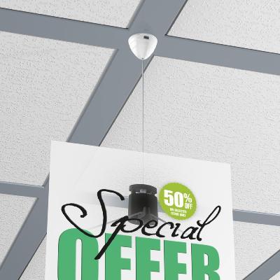 Kit attache magn tique pour faux plafonds r sistance 1 kg for Fixation pour faux plafond